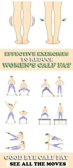 8 Effective Exercises to Reduce Calf Fat Fast - Ann Dopilka Fitness Workouts, Sport Fitness, At Home Workouts, Health Fitness, Fitness Tips, Calf Exercises, Stomach Exercises, Training Exercises, Leg Training