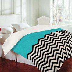 Dec Hode Zigzag12 435 Via Atticmag Chevron Bedspread Black Striped