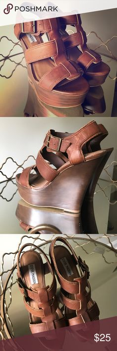 Steve Madden Wedges Size 7 Size: 7 | Brand: Steve Madden | Color: Brown | Details: worn only a couple of times Steve Madden Shoes Wedges