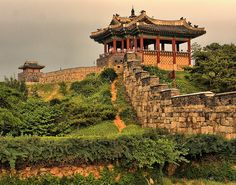 Suwon Fortress, South Korea. I lived within walking distance of this place.