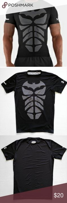 Under Armour Dark Knight Compression Tee Batman EUC. Under Armour Shirts