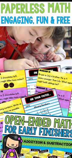 FREE paperless math resource (differentiated open-ended math questions for morning math, early finishers and lessons!) #islaheartsteaching