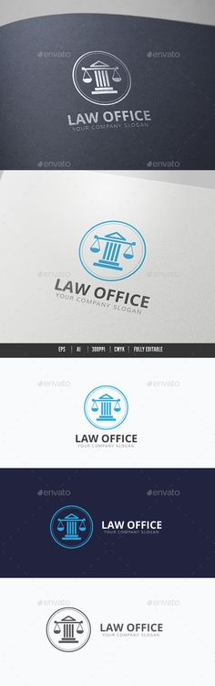 Law Office Logo Template #design #logotype Download: http://graphicriver.net/item/law-office/11966331?ref=ksioks