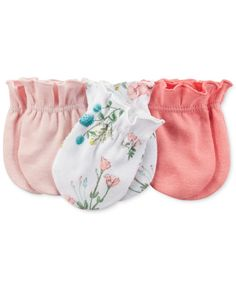 Carter's Baby Girls' Mitts – Kids Newborn Shop – Macy's – Baby For look here Baby Girls, Carters Baby Girl, My Baby Girl, Baby Girl Newborn, Baby Outfits, Organic Baby Clothes, Future Baby, Cute Babies, Baby Mittens