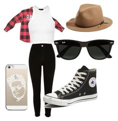 """Bruno Mars inspired outfit"" by sam-mars ❤ liked on Polyvore featuring rag & bone, Topshop, Converse, Ray-Ban and Casetify"