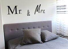 """""""Mr & Mrs"""" 3D Wandtattoo aus Acrylglas / Plexiglas CHRISCK design http://www.amazon.de/dp/B0100TE4DE/ref=cm_sw_r_pi_dp_R.NJvb1WBM0A9"""
