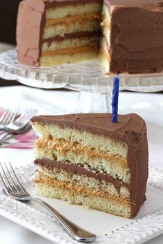 Chocolate & Dulce de Leche Birthday Cake Recipe by CookinCanuck, via Flickr