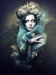 Faerie Chic: Iced Beauty by KryseisRetouche / Fantasy Photography - Socialbliss on imgfave Gothic Fantasy Art, Dark Fantasy, Art Journal Pages, Illustrations, Illustration Art, Steampunk, Fantasy Photography, Photoshop, Computer Art