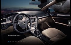 Think outside the box with the innovative Volkswagen Golf. With a turbocharged engine and sleek design, the Golf is truly a modern hatchback. Vw Golf Tdi, Volkswagen Golf, Golf Tips Driving, User Interface Design, Motion Design, Dream Cars, Ui Design, Graphic Design, Steering Wheels