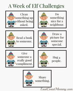 Challenges {free printable} FREE PRINTABLE - Encourage kids to spread kindness this holiday season with these fun challenges.FREE PRINTABLE - Encourage kids to spread kindness this holiday season with these fun challenges. Winter Christmas, All Things Christmas, Christmas Holidays, Christmas Crafts, Christmas Ideas, Christmas Activities, Christmas Traditions, Elf On The Shelf, Der Elf