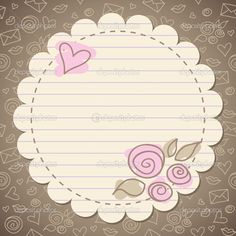 cute vintage romantic frame with old paper Stencil, School Frame, Scrapbooking, Borders And Frames, Old Paper, Writing Paper, Vintage Frames, Flower Frame, Card Tags