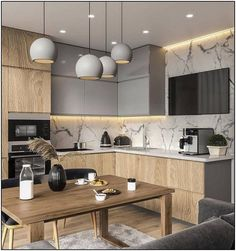 Kitchen Interior Design Unbeatable two tone kitchen cabinets wood and white Contemporary Kitchen Cabinets, Modern Kitchen Interiors, Wood Kitchen Cabinets, Kitchen Cabinet Colors, Painting Kitchen Cabinets, Interior Modern, Kitchen Paint, Interior Ideas, Modern Kitchens