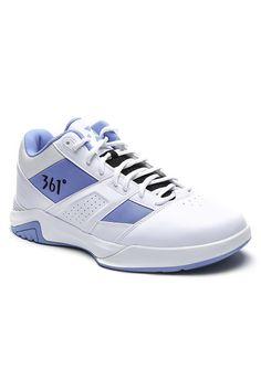 361 Degrees MB2 Basketball Shoes (White/Light Blue)