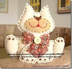 ru / Фото - коты - semynova - Ideal toys for small cats Sewing Toys, Sewing Crafts, Sewing Projects, Cat Crafts, Animal Crafts, Stuffed Animal Patterns, Stuffed Animals, Ideal Toys, Cat Quilt