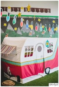 Happy Camper Classroom Theme by Schoolgirl Style www.schoolgirlstyle.com camping classroom theme, classroom decor, woodland animals, bulletin boards, classroom organization, Reading Center