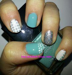 Tiffany inspired manicure http://irishnailaddict.blogspot.ie/2013/08/tiffany-inspired-nails.html
