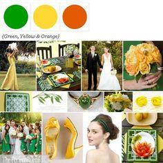 A Fun Palette of Green, Yellow + Orange via The Perfect Palette. xo