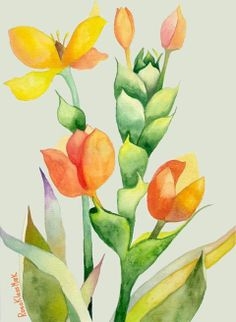 watercolor by Rosa Klass Mark