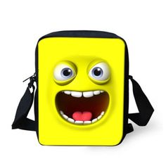 1b7a0dabb615 FORUDESIGNS Emoji smiley printing messenger bags for women solid durable  girls cross body bags small shoulder