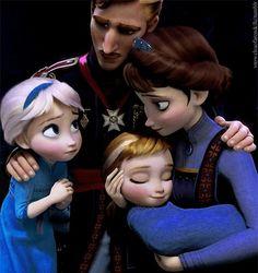 frozen, reine des neiges, elsa, anna, roi, reine