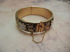 Bracelete Damasquinado Vintage Anos 60