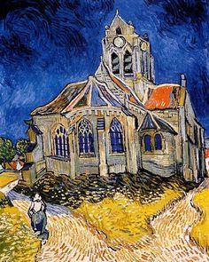 Vincent Van Gogh - Post Impressionism - Auvers - L'Eglise d'Auvers - 1890