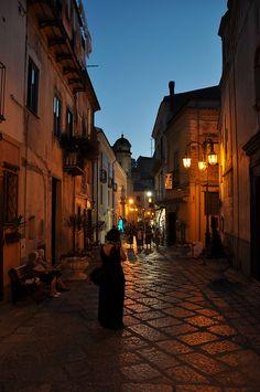 Centro storico di Maratea (PZ), Italia.