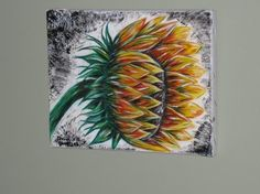 Acrylic Painting - Sunflower - Canvas Painting Digital, Sunflower Canvas Paintings, Fine Art, Visual Arts