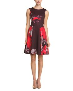 Spotted this Yoana Baraschi Red Multicolor Fit & Flare Dress on Rue La La. Shop (quickly!).