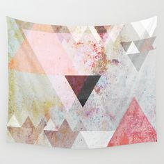 Cool graphic wall tapestry.  This website has a ton of cool art from young artists all over the US. The prices are great and the selection is wide & inspiring!