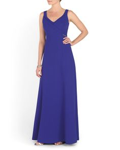 Jeweled Waist Long Gown