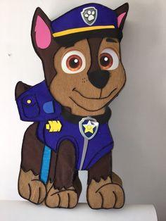 Chase pinata. Paw patrol pinata Inspired. Puppis pinata. Paw patrol birthday Party. Paw patrol decoracion. Paw patrol Party supplies. | Happy Party