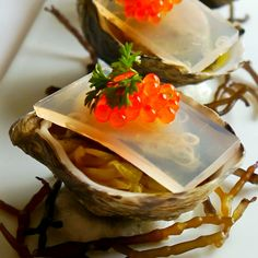 Yes! Fresh oysters with caviar on top via Chef Mavro, Oahu.