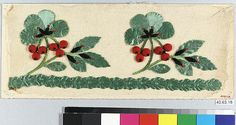 Dress Border Date: early 19th century Culture: French Dimensions: H. 4 1/4 x W. 10 1/2 inches 10.8 x 26.7 cm Classification: Textiles-Embroidered Credit Line: Rogers Fund, 1940