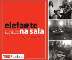 Todos trabalham, equipa e speakers, para que tudo corra bem no #TEDxLisboa 2015, #elefantenasala, no último sábado de ensaios. Bilhetes em tedxlisboa.com