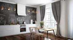 Animez la cuisine et la salle à mange lors des repas en famille grâce à la peinture ardoise, qui transformera n'importe quel espace de votreintérieur en un