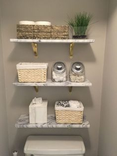 Marble wall shelves from Wooden shelves and toilet paper in a basket.- Wandregale aus Marmor von Holzregale und Toilettenpapier in einem Korb. Bau… Marble wall shelves from Wooden shelves and … - Wall Mounted Shelves, Restroom Decor, Bathroom Organisation, Living Room Rug Placement, Tiny Bathrooms, Small Bathroom Decor, Apartment Decor, Bathrooms Remodel, Bathroom Decor