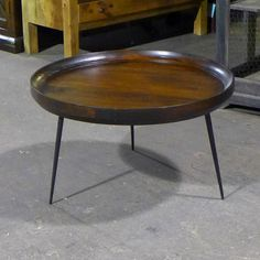 b724bec9329ca Iron Leg Round Coffee Table - Nadeau Chicago