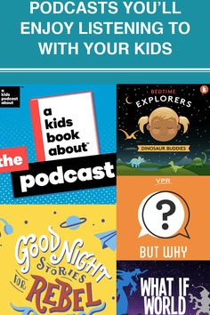If your child spends too much time in front of the screen, podcasts are a great option to showcase other forms of entertainment. They can be enjoyed in the car, while doing chores and as a family before bed. New Books, Good Books, Mindfulness Coach, Curious Kids, Home Learning, Stories For Kids, The Magicians, Bedtime, Fun Activities