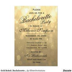 Gold Bokeh   Bachelorette Party