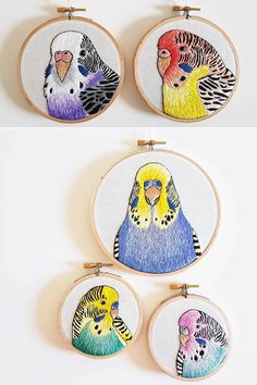 Bird embroidery art by Amy Jones #embroidery #handembroidery #hoopart