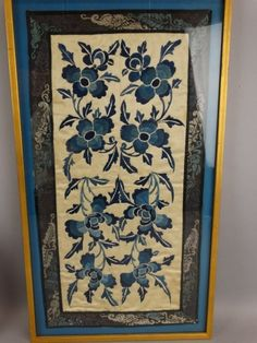 Lot of 2 Framed Chinese Embroidery