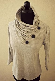 DIY: Convertible Cowl Neck | Trash To Couture | Bloglovin