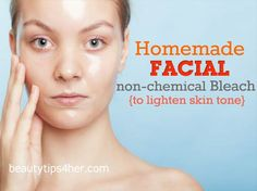 DIY Homemade Facial Bleach for Brighter Skin Tone | Beauty and MakeUp Tips