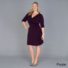 4df2e94b9be9 Shop for Kiyonna Clothing Women's Plus Size 'Vivienne' Cinch Dress. Get free  delivery at Overstock - Your Online Women's Clothing Destination!