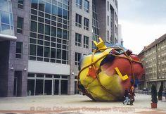 Claes Oldenburg and Coesje van Bruggens Bethlehemkirch-Platz, Mauerstrasse, Berlin. Sculpture Art, Sculptures, Claes Oldenburg, 3d Street Art, Types Of Art, Public Art, Installation Art, Art Forms, Modern Art