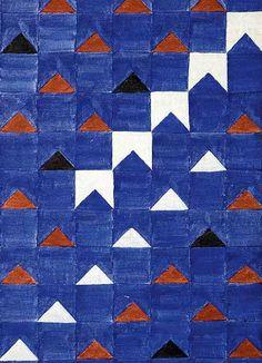 Alfredo Volpi circa 1966 painting Bandeirinhas Estruradas (Structured Tiny Flags), released to Reuters on November 16, 2011. REUTERS/Christies/Handout