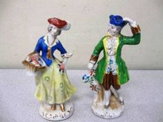 Victorian Figurines made in  Occupied Japan