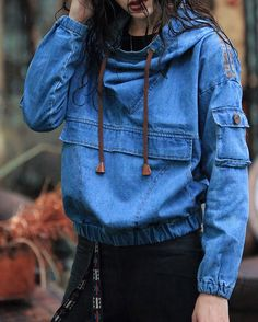 Maze hip-hop denim jacket