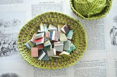 3 Mini Book Magnets assorted colors by sappling on Etsy